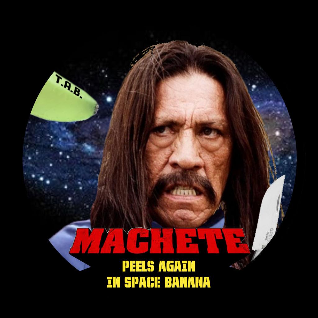 étiquette Machete peels again in space banana